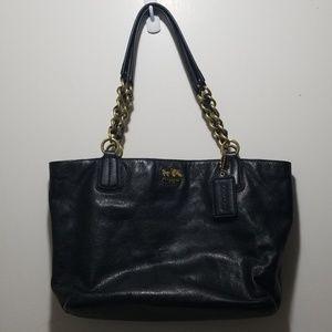 Coach black leather purse